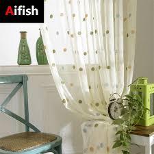 kreis cortinas bestickt kinder balkon vorhänge weiß transparent tüll vorhänge für schlafzimmer wohnzimmer dekoration 4