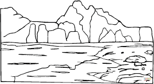 Click The Mountain And Rocks Coloring Pages