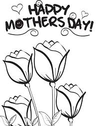 Printable Coloring Page Of Roses For Mothers Day