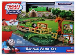 Thomas The Train Tidmouth Sheds Playset by Image Trackmaster Fisher Price Reptileparksetbox Jpg Thomas
