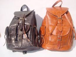 moroccan leather backpack rucksack back bag soulder vintage purse