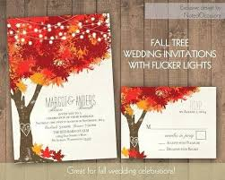 November Wedding Invitations Fall Autumn Oak Tree By Diy