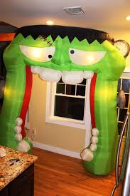 Disney Halloween Airblown Inflatables by Gemmy Airblown Inflatable 9 Ft Giant Frankenstein Archway Arch