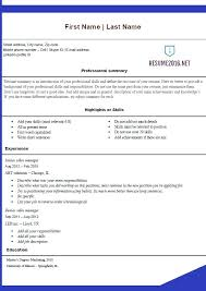 Best Resumes Templates 2016 Free Resume Office Blue Template Website Photo Gallery Examples Word