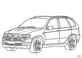 Click The BMW X5 Coloring Pages