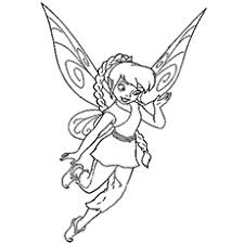 Beautiful Fairy Fawn Flying Coloring Pages