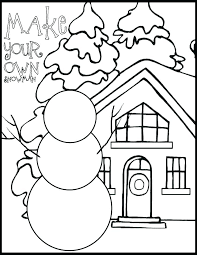 Winter Color Pages Free Printable Coloring