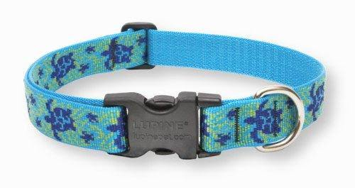 Lupine Adjustable Dog Collar - Turtle Reef Patterned