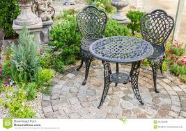 Decor Table And Chairs In Garden Stock Photo - Image Of ... Stunning White Metal Garden Table And Chairs Fniture Daisy Coffee Set Of 3 Isotop Outdoor Top Cement Comfort Design The 275 Round Alinum Set4 Black Rattan Foldable Leisure Chair Waterproof Cover Rectangular Shelter Cast Iron Table Chair 3d Model 26 Fbx 3ds Max Old Vintage Bistro Table2 Chairs W Armrests Outdoor Sjlland Dark Grey Frsnduvholmen China Patio Ding Dinner With Folding Camping Alinium Alloy Pnic Best Ideas Bathroom