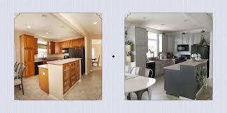 Kitchen Color Ideas With Cherry Cabinets 15 Diy Kitchen Cabinet Makeovers Before After Photos Of