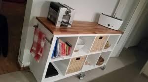kücheninsel kitchenisland ikeahack kallax arbeitsplatte