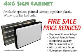 closeout 72x48 lighted sign cabinet for outdoor mydiysigns