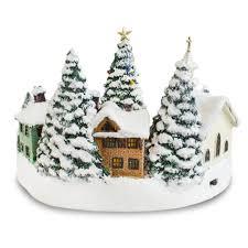 Thomas Kinkade Christmas Tree by Thomas Kinkade Lighted Musical Christmas Village Collectible