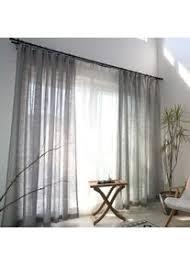 gjxy vorhang transparent kräuselband 1er set kurz solide