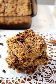 Healthy Chocolate Pumpkin Desserts by Healthy Chocolate Chip Pumpkin Bread Oatmeal Bars C It Nutritionally