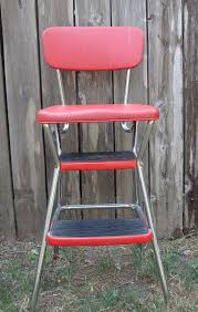 Cosco Retro Chair With Step Stool Yellow by Sleeping Or Sewing Thrift Share Monday April 30