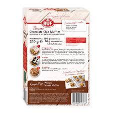 ruf chocolate chip muffins mit muffin förmchen für 12 mini kuchen 8er pack 8 x 310 g