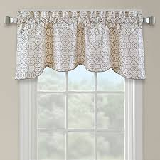 darrow embroidered arch scallop valance in ivory bed bath beyond