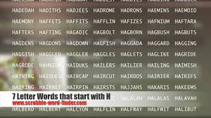 7 letter words that start with H