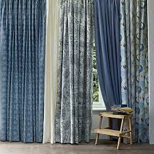 buy john lewis persia lined pencil pleat curtains indian blue