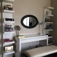 Makeup Storage and Organization Ikea Lack Shelf Unit & Malm