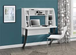 Ameriwood Computer Desk With Shelves by Ameriwood Furniture Eden Wall Mounted Desk White