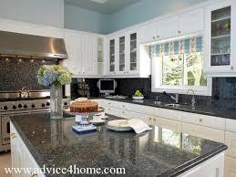 white kitchen cabinets light blue walls quicua