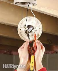 Porcelain Lamp Socket Wiring by How To Replace A Pull Chain Light Fixture Family Handyman