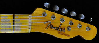 Fender 1952 Telecaster Heavy Relic Faded Black Large U Neck