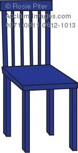 Royalty Free Clipart Illustration Of A Blue Chair