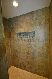 tile shower with raindrop shower stainless steel grab