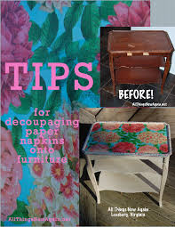 Tips for Decoupaging Paper Napkins to Furniture