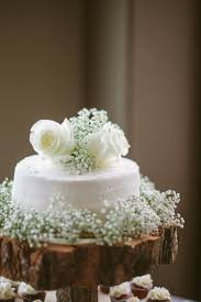 One Tier White Buttercream Wedding Cake