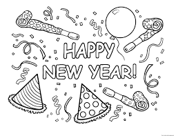 2016 New Year Coloring Pages 4