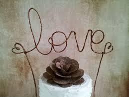 Rustic LOVE Wedding Cake Topper Banner
