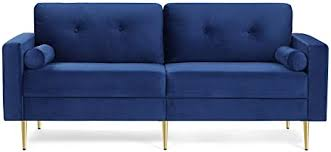 vasagle 3 sitzer sofa für wohnzimmer bezug aus samt für wohnungen kleinen raum holzgestell metallbeine einfacher aufbau modernes design