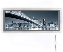 led panorama leuchtbild wohnzimmer acrylglas wand bild