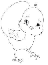 Animals Baby Chick Coloring Pages 1