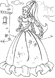 Barbie Dolls Princess Coloring Pages