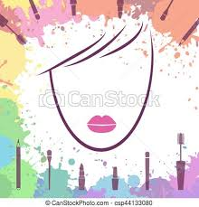 Face Beautiful Girl Logo Template Makeup Artist Fashion Icon Woman Face Vector