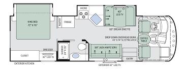 Itasca Class C Rv Floor Plans by A C E Class A Motorhomes Floor Plans Thor Motor Coach