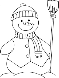 Download Coloring Pages Free Winter Printable Snowman