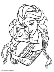 Frozen Coloring Pages Vintage Free To Print