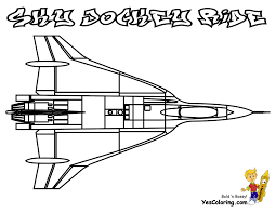 Fighter Airplane Color In Page At YesColoring