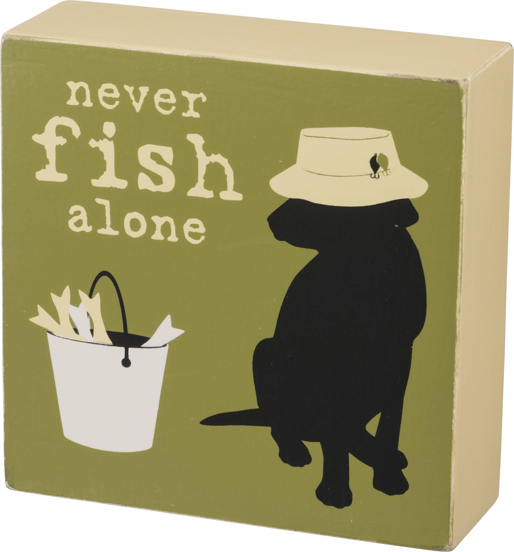 Primitives by Kathy Box Sign - Never Fish Alone