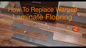 Buckled Wood Floor Water by How To Replace Warped Water Damaged Laminate Floor Boards Youtube