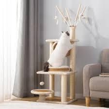 kratzbäume möbel 3 ebenen für große katzen geeignet