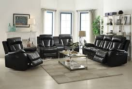 Darrin Leather Reclining Sofa With Console by Living Room Furniture Sofas Furniture Store Springfield Oh