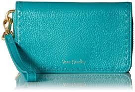 Vera Bradley Rfid Mallory Smartphone Wristlet Turquoise Sea