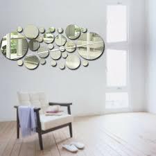 26pcs dekorative spiegel wand aufkleber silber runde